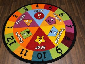 133X133CM CIRCLE RUGS/MATS SHAPES HOME/SCHOOL EDUCATIONAL NON SILP BEST SELLERS